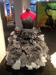 recycled materials fashion show paper cup dress coolness
