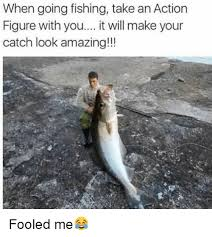 Ice Fishing Meme - when going fishing take an action figure with you it will make