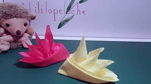 Pliage Serviette Papier Poinsettia by Diy Pliage Serviettes Fleur Du Paradis Youtube