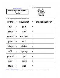 esl kids family trace worksheet word worksheets kindergarten