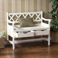 Wood Bench With Back And Storage Wood Bench With Backrest Plans by White Wood Storage Bench Practical And Doubled Functional Storage