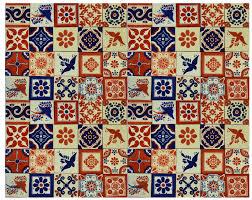 blue u0026 terracotta mexican tile handmade talavera backsplash