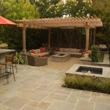 Fire Pit With Water Feature - san francisco pondless water feature exterior traditional with