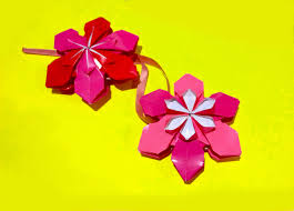 origami flower ornament ornaments diy house decor