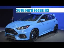 ford focus xr5 review 2016 ford focus rs live photos at 2015 york international auto