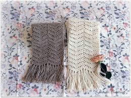 bufandas mis tejidos tejer en navidad manualidades navidenas bufanda bufanda estola en punto zig zag crochet y dos agujas patrones