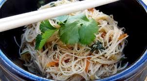 cuisiner vermicelle de riz salade de vermicelles de riz à la coriandre la tendresse en cuisine