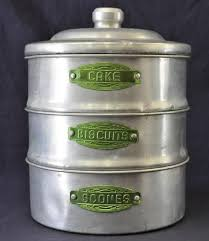 kitchen canisters australia aluminum stackable kitchen canisters with green labels from