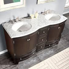 White Carrera Marble Bathroom - silkroad exclusive 60 inch carrara white marble bathroom vanity