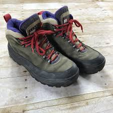 s waterproof walking boots size 9 vintage 90s hilfiger leather hiking boots mens size 9 1 2