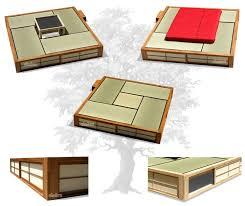 superficie chambre cinius lit en bois podio lit japonais plateforme avec surface
