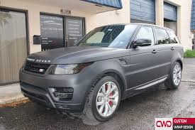 land rover chrome range rover sport matte deep black wrap