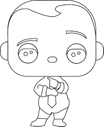 funko pop boss baby boss baby diaper and tie coloring page
