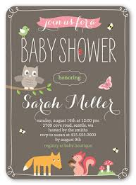 woodland baby shower invitations whimsical woodlands 5x7 invitation baby shower invitations