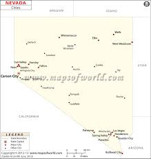 printable map of nevada cities in nevada nevada cities map