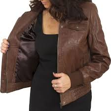 light brown vest womens front pocket brown leather bomber jacket for women leather jackets usa