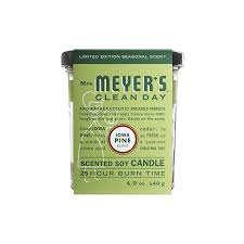 amazon com mrs meyers clean day candle iowa pine 4 90 ounce