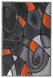 Orange And Black Rugs Modern Navy Blue Runner Peafowl Rugs 2x8 Hallway Long Rug Black