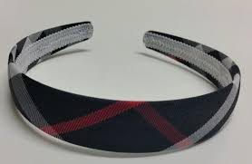 hair band headband tartan plaid check print headband black
