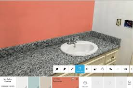 what color bathroom walls to compliment new granite