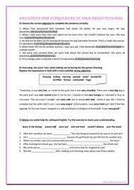11 free esl strong adjectives worksheets
