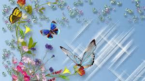 flowers and butterflies wallpaper 1404792