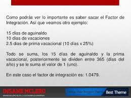 cmo calcular el salario diario integrado con sueldo presentacion como funciona el salario diario integrado