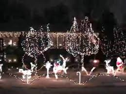 Flying Reindeer Christmas Decorations by First Time Light O Rama Flying Blowmold Santa And Reindeer Youtube