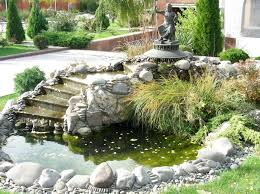 fabulous backyard pond ideas with waterfall small garden waterfall