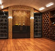 wine room design with floral arrangement wine cellar contemporary