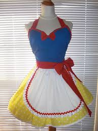 Size Pin Halloween Costumes Size French Maid Costume Apron Yellow Blue Red Pin