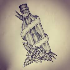 Nautical Tattoos by Message In A Bottle Tattoo Sketch By Ranz Pinterest Bottle