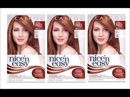 clairol nice n easy natural light auburn clairol nice n easy hair color 110 natural light auburn 1 kit youtube