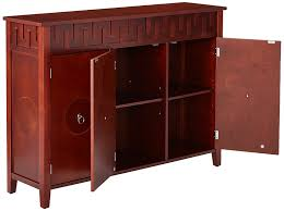 amazon com kings brand furniture wood console sideboard buffet