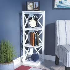 Bookcase Corner Beachcrest Home Stoneford Corner Unit Bookcase Reviews Wayfair