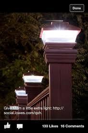 solar powered deck post lights 317 best deck lights images on pinterest exterior lighting deck