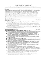 Household Manager Resume Qa Resume Objective Qa Sample Resume Cover Letter Good Looking