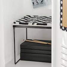 black chevron locker rug pbteen