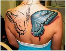 colourful big butterfly back for tattooshunter com
