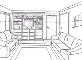 how to draw a room with perspective drawing tutorial of a one