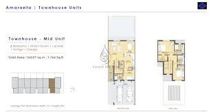 2 bedroom townhouse floor plan