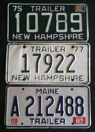 New Hampshire Vanity Plate Vintage New Hampshire 1964 Boat License Plate P308 Nh Rare