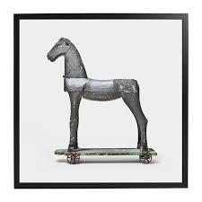framed print toy horse 32x32