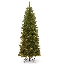 6 valley tm spruce pencil slim tree with clear lights shopko