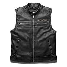 harley davidson mens passing link leather vest 98109 16vm mens vests