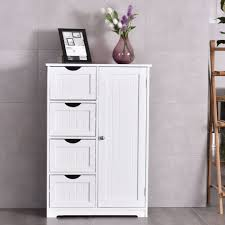 White Freestanding Bathroom Storage Floating Bathroom Cabinets Floor Standing Storage Free Corner