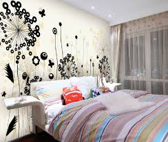 how to paint a bedroom wall colorful bed sets for teenage girl bedroom wall ideas with flower