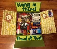 college care package ideas hang in there care package for or college large flat