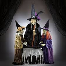 amazon com animated halloween decor 3 witches with light and