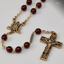 rosaries for sale annunciation gold plated rosary ghirelli rosaries